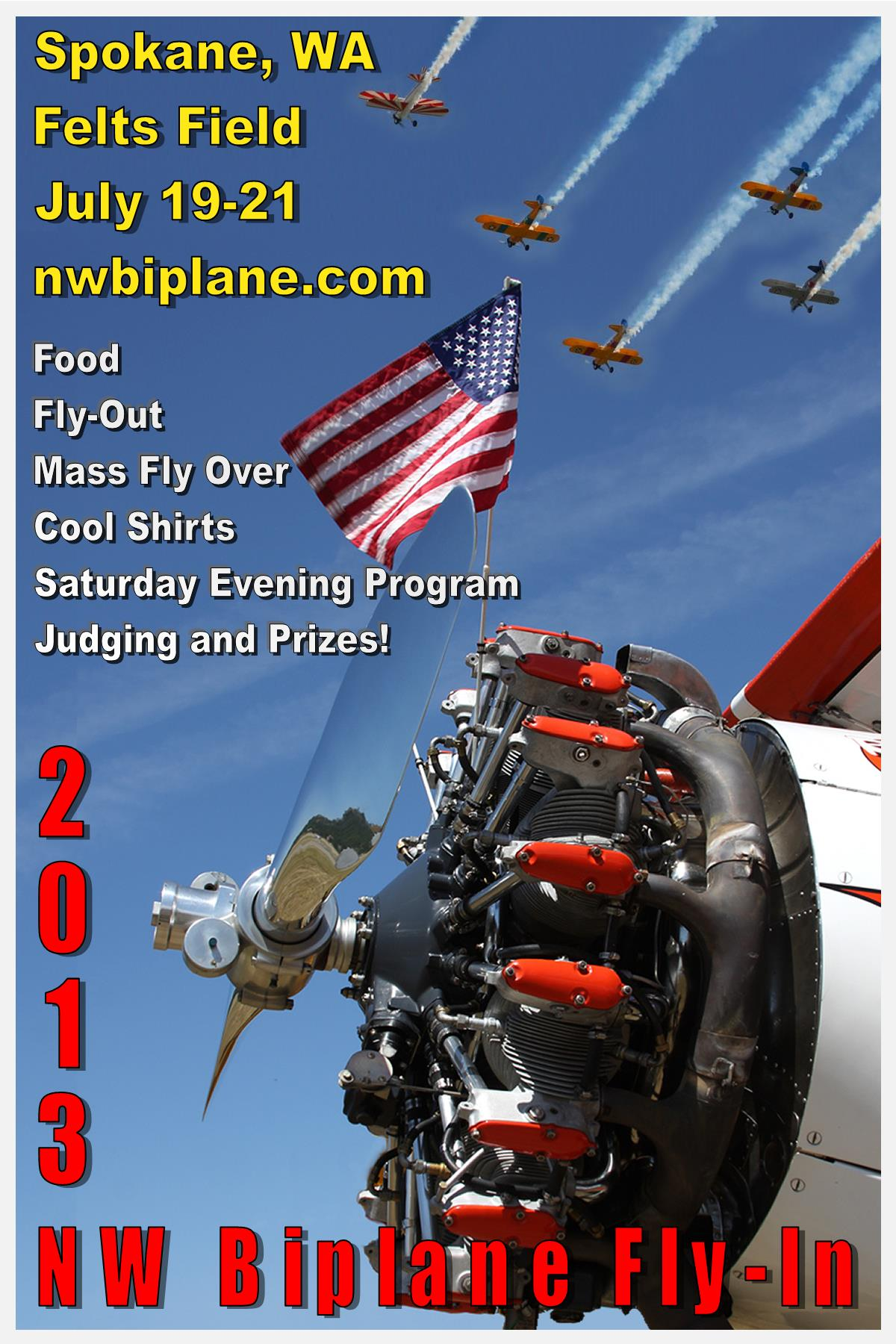 2013 NW Biplane Fly-In, Spokane Felts Field, WA